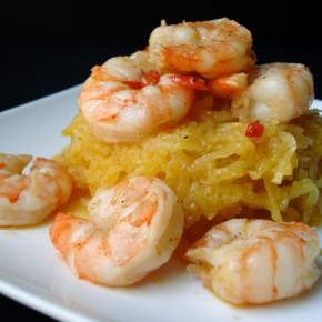 Paprika and Pepper Shrimp with SpaghettiSquash
