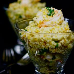 Shrimp, Artichoke and Pistachio CouscousAppetizers